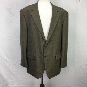 Oscar De La Renta Brown 2 Button Sport Coat Blazer